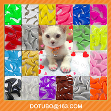 Colorful Soft Cat nail caps Pet nail caps Animal Nail cap pet claw cover