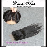 Best Honey In The World Top Straight Hair Closure Malaysian Swiss Lace Closure With Bleached Knots 3 Way Part
