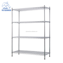 NSF Approved Chrome Finish Commercial Chrome Basket Shelving Wire Shelving