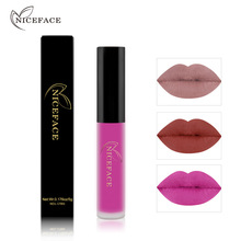 NICEFACE 26colors Makeup Waterproof Matte Velvet Liquid Lipstick Long Lasting Lip Gloss <strong>Cosmetics</strong>