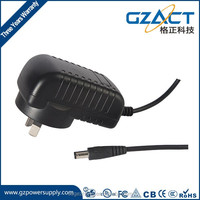 12v 1a wall-mounted dc power adapter for CCTV camera with SAA CE RoHS UL approval