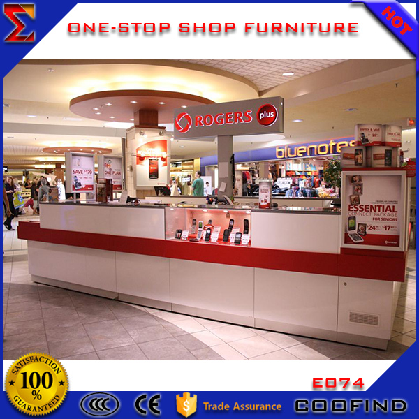 High quality shopping mall used cell phone display counter kiosk for sale