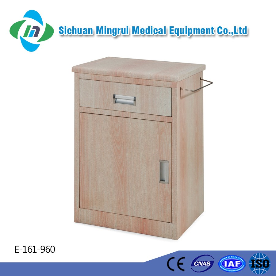 Good quality custom size wooden hospital bedside table
