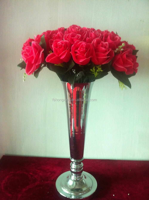 Tall wedding crystal pillar stand flower