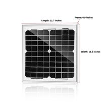 10W Mini Solar Panel Mono Module DIY Outdoor Portable Small Panel Charger Battery