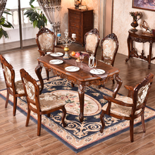 Dining room furniture classical carved solid wooden base for dining table
