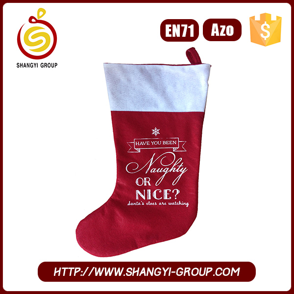 Wholesale Bulk fabric Christmas Stockings for christmas decor