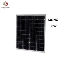 Super quality monocrystalline 80W solar panel manufacturers in china