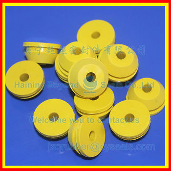 Yellow Silicone Grommet_Good insulation silicone grommet_Height temperature resistance silicone grommet_Bonne isolation