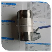 DIN2982 Stainless steel male nippele from pipe