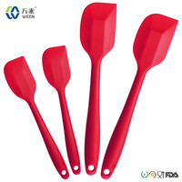 Kitchen utensils Food Grade Approved Set of 4 Silicone Spatulas/Silicone Spatula Set/Silicone Cooking Spatulas for BBQ