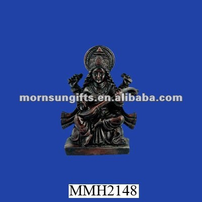 Gentle mother saraswati polyresin decorative statuette