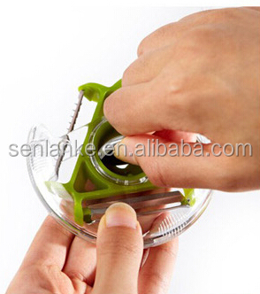 compact3-bladed peeler 3 in 1 Rotation vegetable peeler