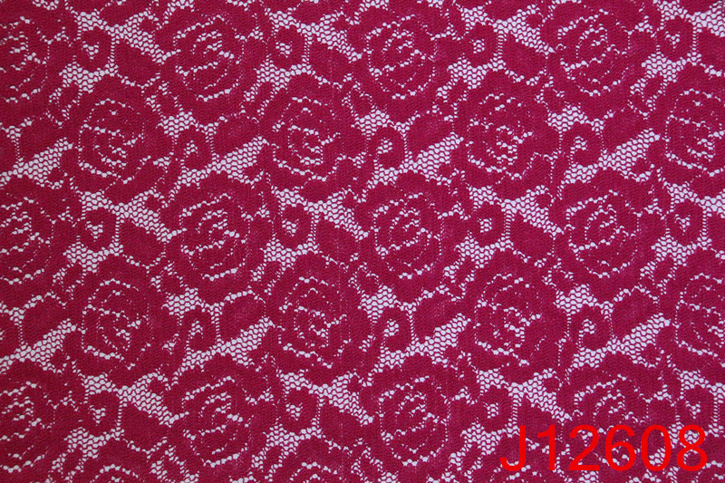 Red Rose Chemical Lace Embroidery Fabric Hot Sale in Dubai