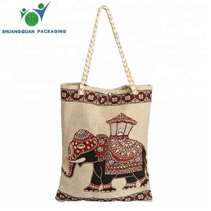 Promotional fashion reusable cloth shopping cotton bag with logo