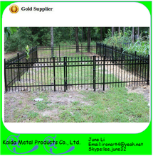 home garden used wrought forged iron removable fence fencing