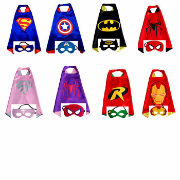 Wholesale superhero capes and masks anime cosplay costume for kids