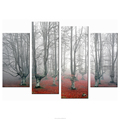 Modern Landscape Canvas Printing 4-panel Canvas Painting Whole Nature Landscape Tree Photo Home Wall Decoration