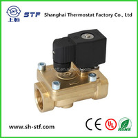 SDF pilot operated brass electric solenoid water valve