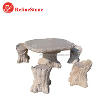 cheap outdoor garden stone chair and tables, natural stone tables and benches