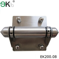 180 degree glass to glass stainless steel spring hinge