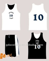 2012 New design customized reversible basketball uniform