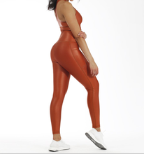 Fitness active <strong>wear</strong> casual running <strong>sport</strong> custom women yoga leather leggings