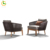 Nice furniture Single sofa with teak leg high quality outdoor used garden sofa