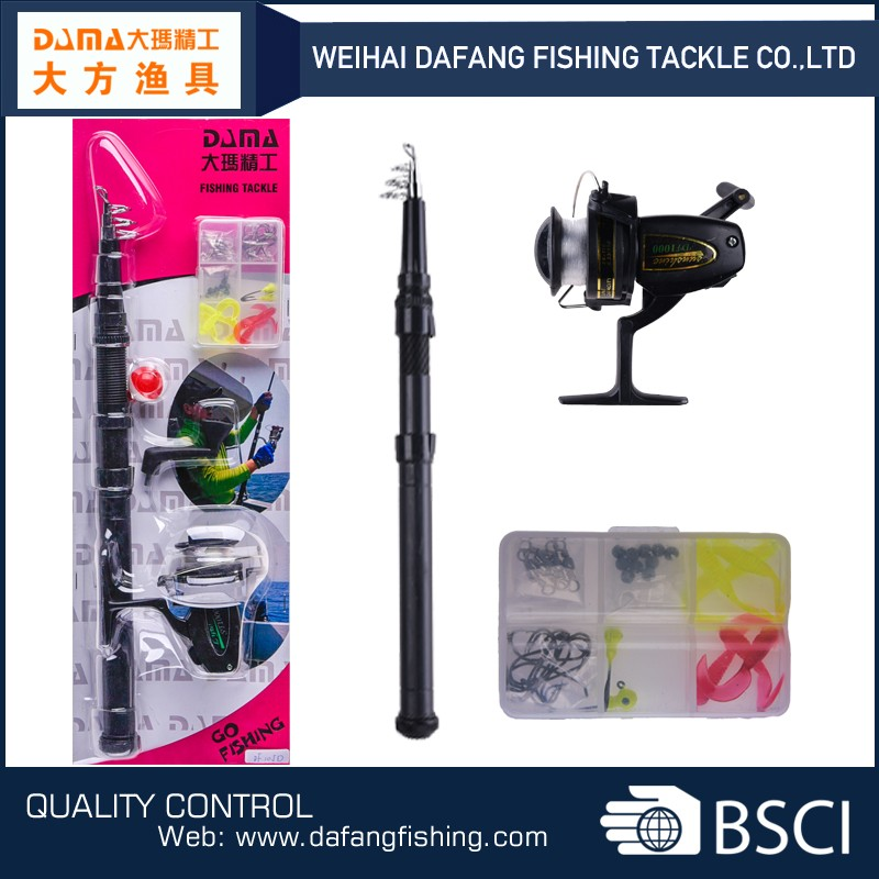 DF105D low price telescopic fishing rod and reel