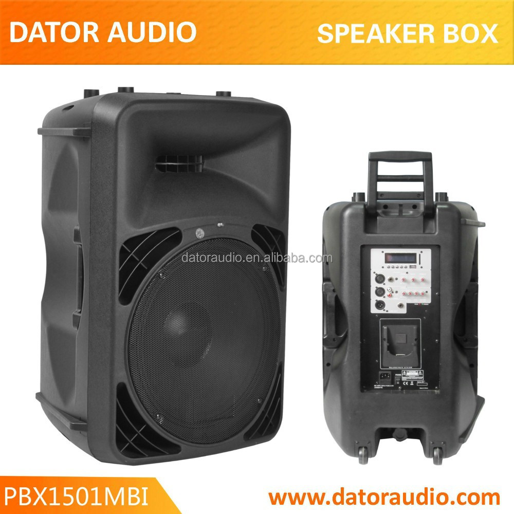 15 Inch Portable Wheel Sound System Speaker Box, RMS 600W Active Speaker