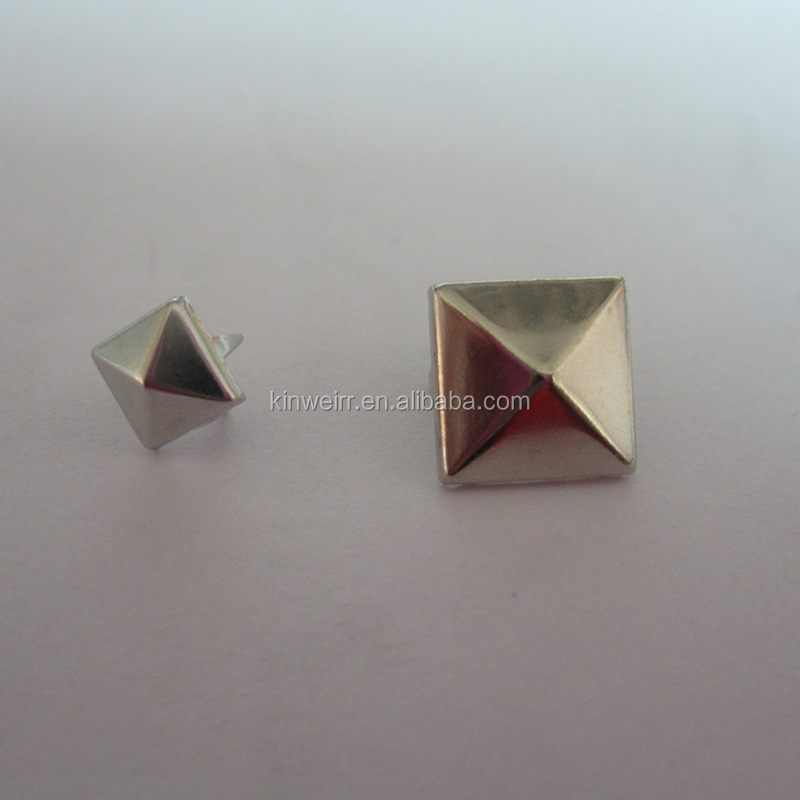 Custom pyramid shape metal clothing studs for wholesale