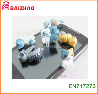 2015 new design Cute Earphone Jack Dust Proof Plug Newest Anti Dust Plug For Mobile Phone