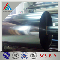Trade Assurance Yarn Grade Metallic Polyester PET Film in Roll