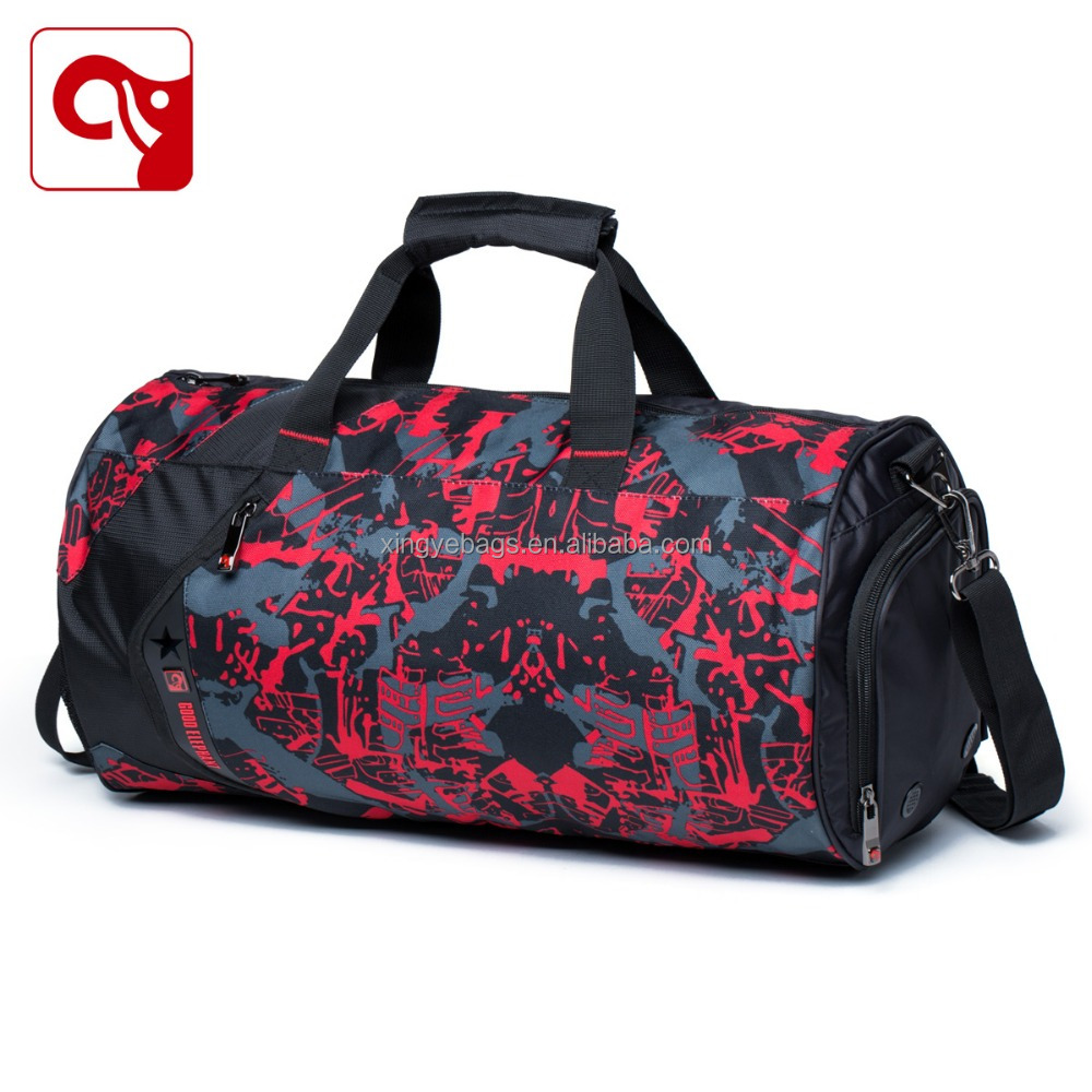 new style fashion wholesale duffle gym bag with shoe compartment