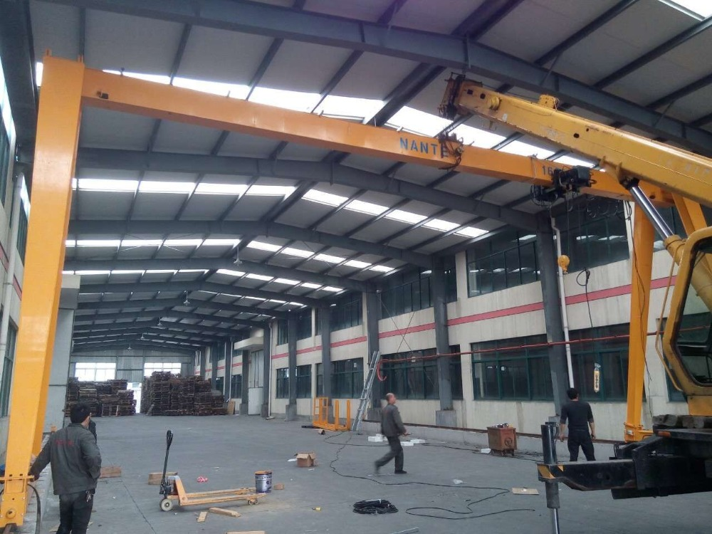 electric overhead traveling gantry crane,10t