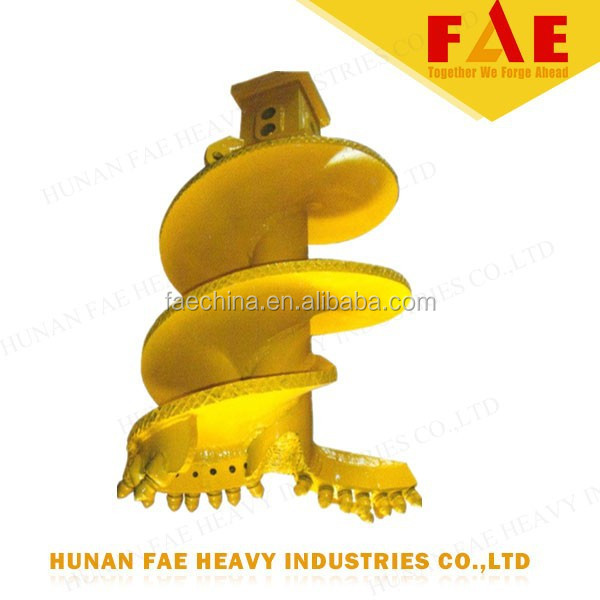 construction machine excavator drilling auger,earth drill for digging hole