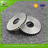 ISO sintered raw material K20 tungsten carbide circle saw blade milling cutter / disc cutter for milling cutting