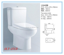 Ceramic European AAA Quality Two-Piece Toilet