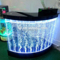 restaurant acrylic led glow display bar counters for sale
