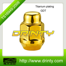 Forged Bulge acorn Wheel Lug Nut Gold Tinatium Lug Nuts