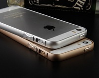 Metal Aluminum Bumper Case for apple iphone 5s bumper cover gold