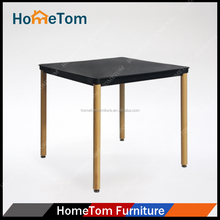 Plastic top wooden frame cheap dining table for dining room furniture