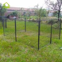 New design large metal outdoor home modular dog kennel run house
