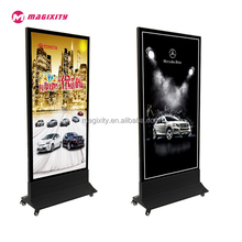 Outdoor Double sided scrolling advertising slim magnetic light box