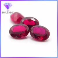 Synthetic Oval Cut Corundum Ruby ,Ruby Stone Price