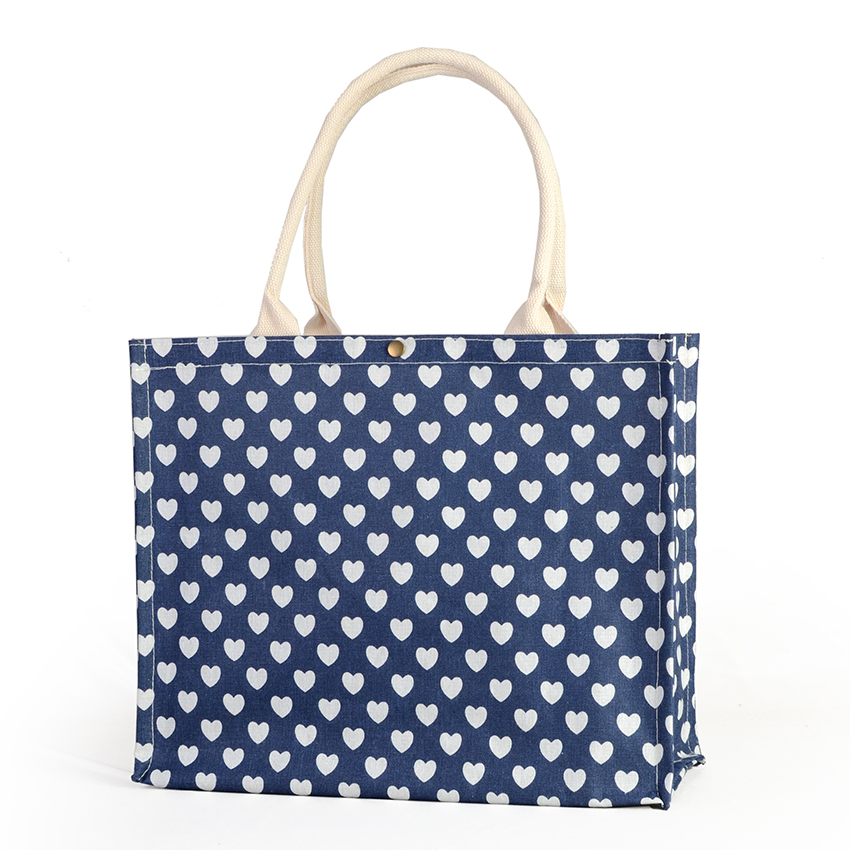 Laminated Jute Grocery Totes With Full Gusset
