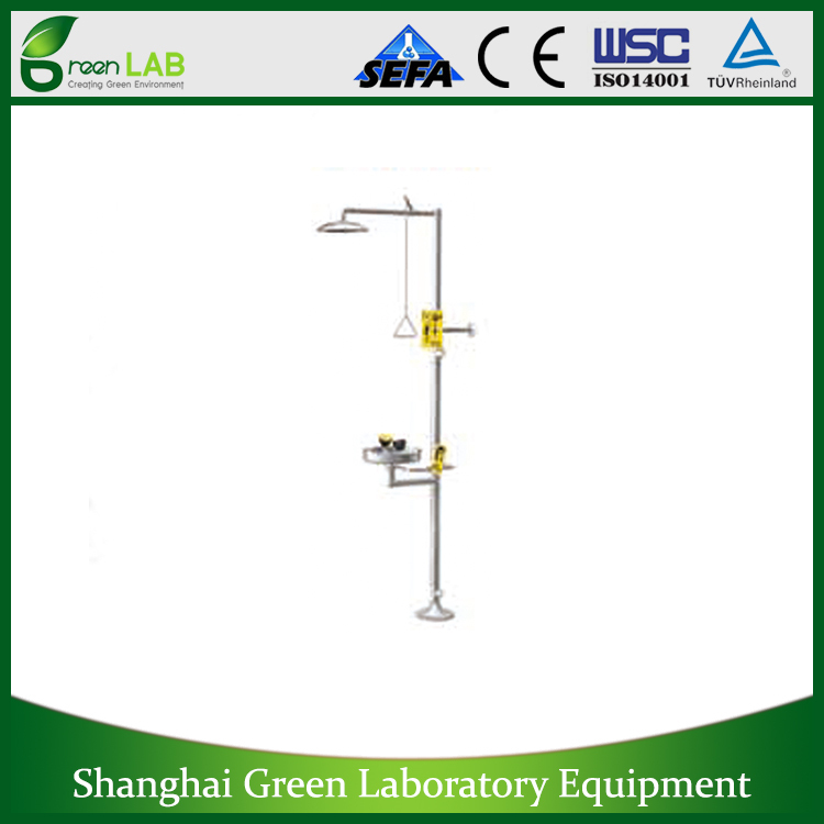 GREENLAB lab fittings, emergency shower with eyewash,Laboratory equipment