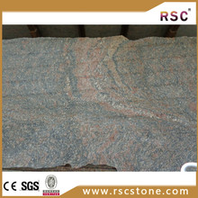 India multicolor ruby red granite