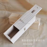 Red Wine Box Cheap Wooden Wine Boxes Pine Wood Wine Boxes with Sliding Lid