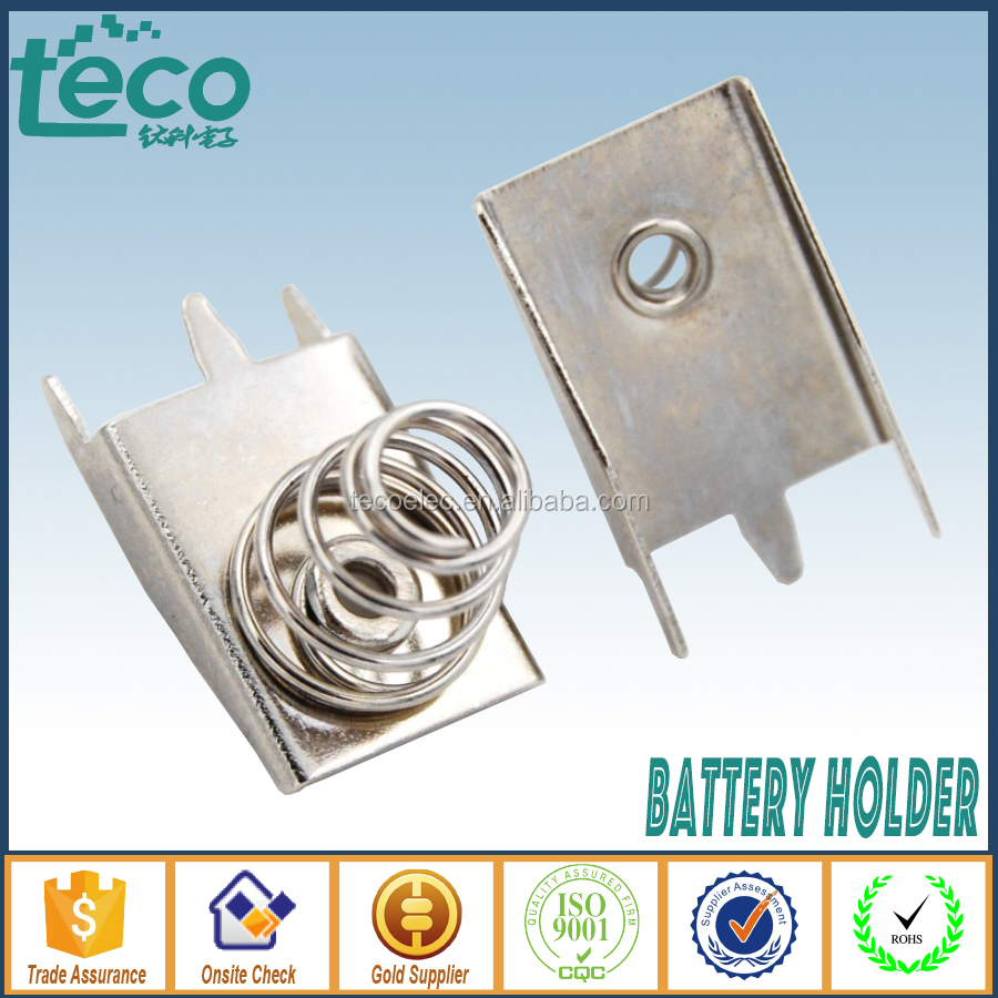 TBH-Clip-AA10A-B Ningbo TECO AA Spring Button Contact for AA, CR2,CR123A, 18650 Battery